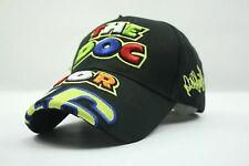 2016 Black Embroidery The Doctor Moto GP Motorcycle Baseball Hat Peaked Cap