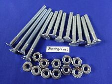 12 New Mounting Bolts & Nuts Kit Quad Roller Skates Speed Jam