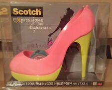 3M Scotch Expressions Tape Dispenser 2 Tone Pink & Neon Shoe High Heel