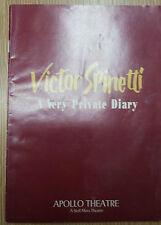 1989 Apollo Theatre: VICTOR SPINETTI -  A Very Private Diary