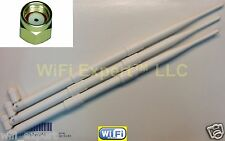 White 3 x 9dBi RP-SMA Antennas (3) for D-Link DIR-655 HIGH GAIN USA