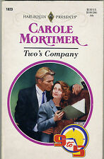 Harlequin Presents #1823 Two's Company (9 to 5) by Carole Mortimer (1996) PB