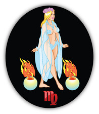 "Virgo Horoscope Sign Sexy Car Bumper Sticker Decal 4"" x 5"""