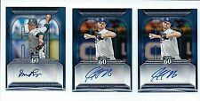 2011 Toops  BASEBALL Topps 60 Autographs 3 Card Lot Jeff Niemann Brandon League