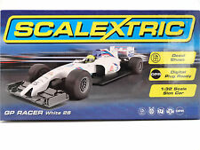 Scalextric White GP Racer Formula 1 F1 Car DPR 1/32 Scale Slot Car C3597