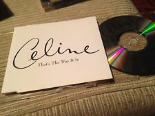 CELINE DION - THAT'S THE WAY IT IS CD SINGLE 1 TRACK PROMO