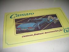 1967 ORIGINAL CAMARO/SS CUSTOM ACCESSORIES BROCHURE/ MANUAL