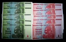 10 Zimbabwe banknotes-5 x 10&20 Trillion Dollars-paper money currency