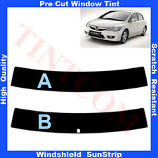Pre Cut Window Tint Sunstrip for Honda Civic 4D Saloon 2007-2012 Any Shade