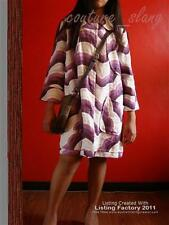 IMPORTED MISSONI PURPLE WHITE WAVE TRENCH COAT DRESS M-L x MANGO