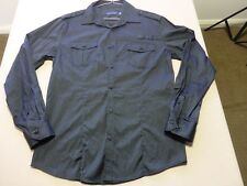 125 MENS NWOT TAROCASH BLACK STRIPE L/S SHIRT MEDM $80.