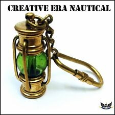 VINTAGE BRASS LAMP ANTIQUE LAMP KEY CHAIN KEY RING NAUTICAL GIFT