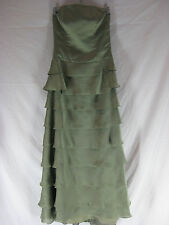 Great Sz 8 10 Alfred Sung Pale Green Evening Dress