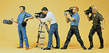 HO Preiser 10421 Film and Sound Crew with Equipment : 1/87 scale Figures