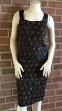 NWT Saks Fifth Avenue 2-Piece Cocktail Dress $295 Black Metallic Gold  6 NICE!!