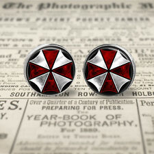 Resident Evil Umbrella Corporation 12mm  Stud Post Earrings. Gift For Her.