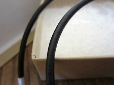 """Leather Cord Necklace - Pure Sterling Silver Clasp/Catch - 16"""" inch - Black 3mm"""