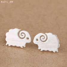 925 Sterling Silver Fashion Tiny Sheep Stud Earrings Girls Kids Gift DS78