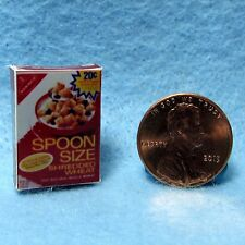 Dollhouse Miniature Replica box of Spoon Size Shredded Wheat