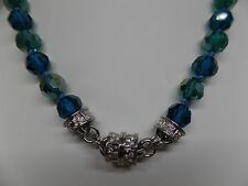 KIRKS FOLLY GODDESS TEAL CRYSTAL MAGNETIC NECKLACE! NEW 2017 RELEASE!