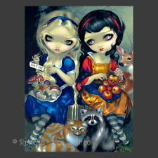 *ALICE AND SNOW WHITE* Strangeling Fairy Art 3D Print By Jasmine Becket-Griffith