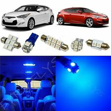 8x Blue LED lights interior package kit for 2012-2016 Hyundai Veloster YV1B