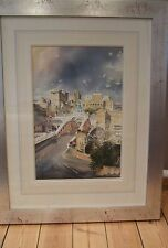 "SUPERB ORIGINAL ALAN REED WATERCOLOUR ""Swing Bridge Newcastle"" Tyne PAINTING"