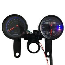 Motorcycle Tachometer Km/h Speedometer Odometer Gauge LED Back Signal Light W6T0