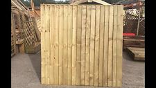 Brand New 6ft x6ft Strong Semi Braced Feather Edge Fence Panel Garden  RRP £34