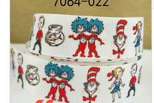 Dr Suess Cat in the Hat Ribbon (white)