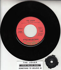 "STEVE MILLER BAND  The Joker 7"" 45 rpm vinyl record + juke box title strip RARE!"