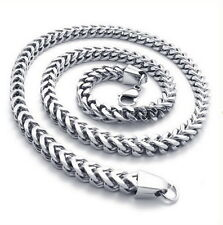 """MENDINO Men's Stainless Steel Necklace Twist Wheat Link Chain Silver 8mm 24"""""""