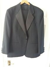 MENS BLACK DINNER SUIT FROM GREENWOODS JACKET 42R TROUSERS 38R