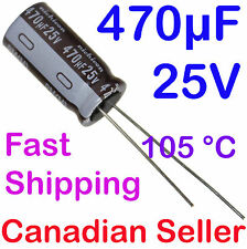 5pcs 470uF 25V 10x20mm 105C Nichicon PM Extremely Low Impedance For TV LCD PS PC