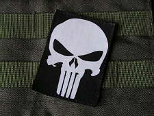 Patch Velcro - PUNISHER - fond NOIR --- Airsoft US ARMY special forces SEAL