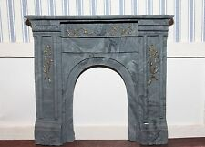 DOLLHOUSE MINIATURE Victorian Fireplace, Stone/Marble Finish With Gold Detail