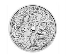 1 oz 999 Silver Coin Dragon & Phoenix 1$ Perth Mint Edition 50.000