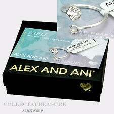 Authentic Alex and Ani Shell Wrap Sterling silver Plated-RING