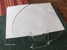 "NOS  CONVEX Clock Glass NOS Parts Clear 9 1/4''"" Diameter Round, 1.89 mm Thick"
