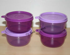 Tupperware  Ideal Snack  Bowl 8oz. Container Set 4 Purlicious  New