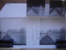 2 photos plaque verre negative et positive PONTS de CE l inondation