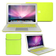 Neon Yellow Frosted Case sleeve Keyboard Cover Screen Protector MacBook Air 13