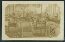 Sharp RPPC 1920's WICKER CHAIR SHOP with Partially Constructed Chairs
