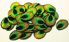 New 10pcs Embroidered Cloth Iron On Patch Sew Motif Applique peacock eye KQY-06
