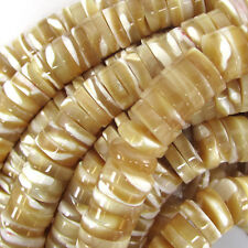 "8mm natural mother of pearl mop heishi beads 15.5"" strand"