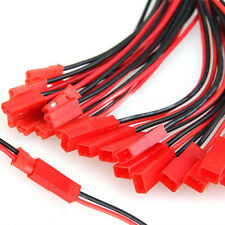 10Pairs 100mm JST Connector Plug Cable Line Male+Female Fit RC BEC Lipo Battery
