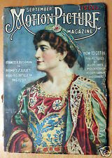 Sept 1916 Motion Picture Magazine With Charlie Chaplin The Vagabond Silent Movie