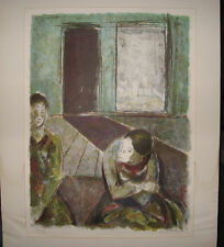 "Joseph Floch ""Im Atelier"" 1950s Signed Litho Important Austrian Expressionist"