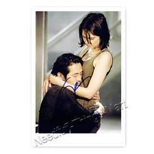 Steven Yeun & Lauren Cohan aus Walking Dead - Autogrammfotokarte [A1] 