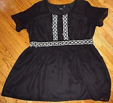ASOS Curve Womens US 22 Beaded Skater Dress Little Black Dress LBD Party Holiday